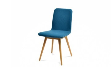 Nice blue chair isolated on white background