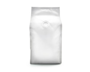 white coffee bag front