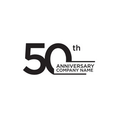 50th year anniversary icon logo design template