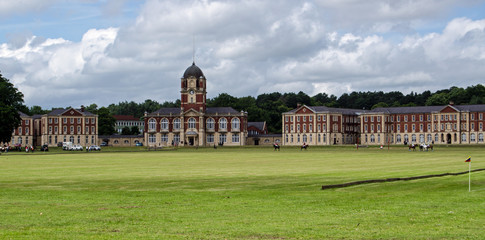 Polo field and New College, Sandhurst