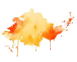 In de dag Vormen yellow and orange watercolor splash texture background