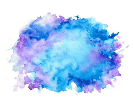 abstract nice blue shades watercolor texture background
