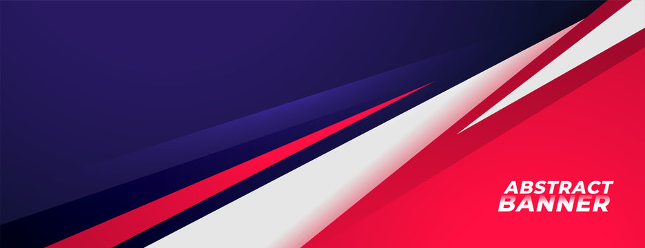 sports style banner design in red and purple colors