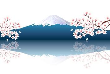 富士山 桜 風景 背景