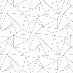 Geometric vector pattern, repeating asymmetry linear triangle shape or polygon triangle. Pattern is clean for fabric, wallpaper, printing. Pattern is on swatches panel.