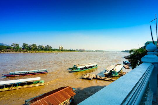 Laos beside Mae Khong River at Chiang Saen District