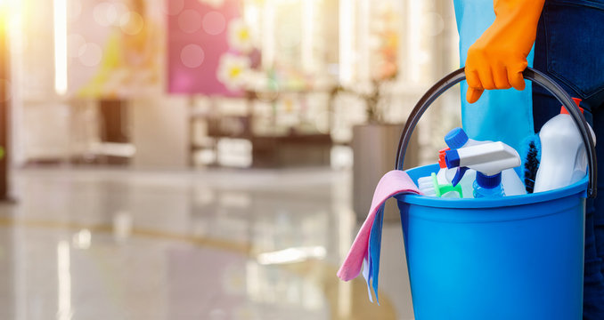 Cleaning services concept .