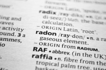Word or phrase Radon in a dictionary.