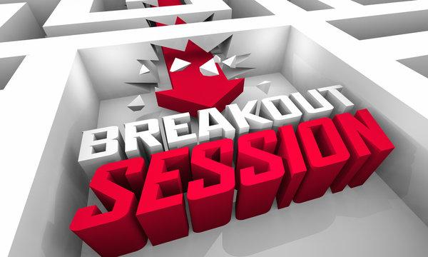 Breakout Session Seminar Workshop Group Team Conference 3d Illustration