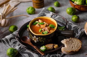 Delicious homemade goulash soup