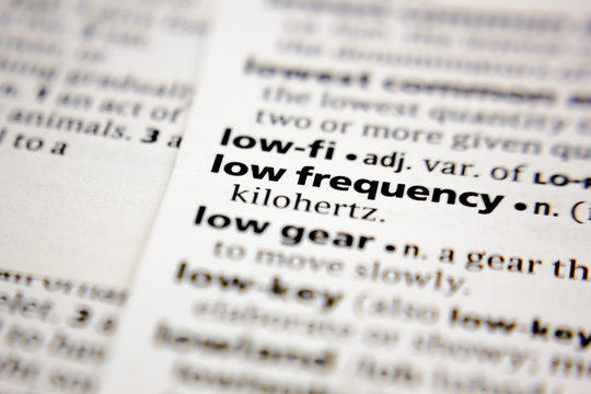 Word or phrase low frequency in a dictionary.