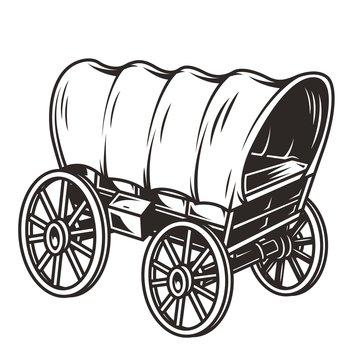 Monochrome wild west wagon concept