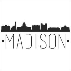 Fototapeta Madison Wisconsin. City Skyline. Silhouette City. Design Vector. Famous Monuments. obraz