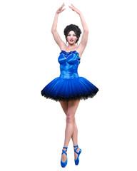 3D ballerina in tutu.