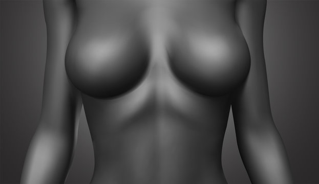 vector female body colorless tones. photo realistic mesh