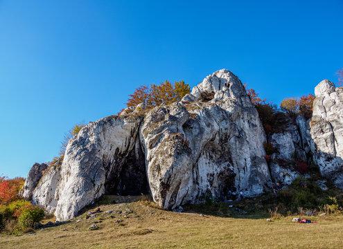 Rzedkowickie Rocks, Rzedkowice, Krakow-Czestochowa Upland or Polish Jurassic Highland, Silesian Voivodeship, Poland