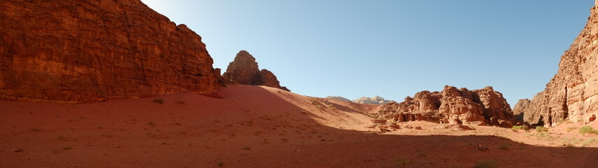 Photo sur Aluminium Rouge mauve Wadi Rum