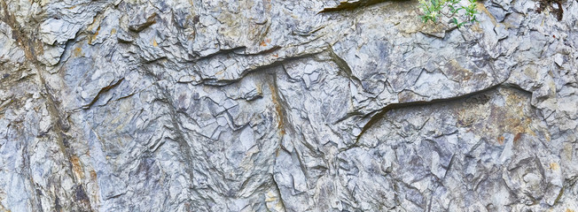 Close up of slate rock in the mountains