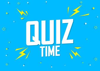 Quiz Time, poster design template, game banner, vector illustration