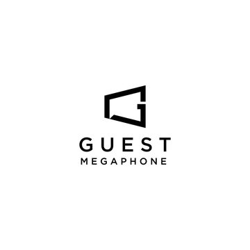 Modern logo design of megaphone and letter G with white background - EPS10 - Vector.