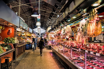 Photo sur Toile Barcelone Barcelona Markthalle
