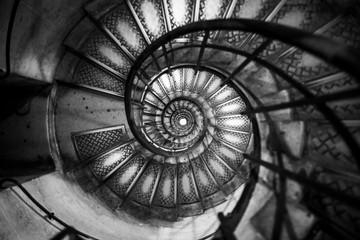 Photo sur Aluminium Spirale spiral spiral staircase