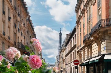 Acrylic Prints Eiffel Tower eiffel tour and Paris street