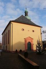 Blick auf ein Historisches Gebäude im Zentrum von Illingen (Saar)