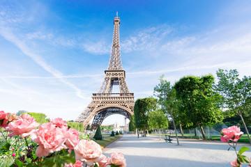 eiffel tour and Paris cityscape Fotomurales