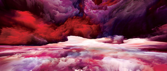 Poster Crimson Virtual Land and Sky