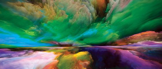 Tuinposter Zee / Oceaan Source of Land and Sky