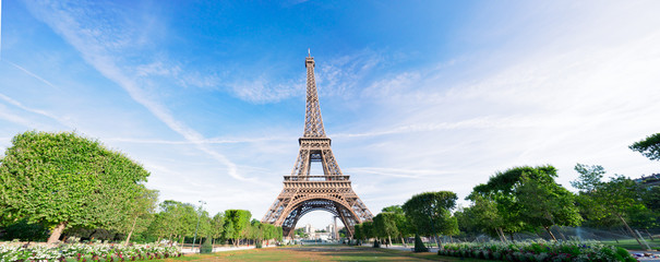 Garden Poster Eiffel Tower eiffel tour and Paris cityscape