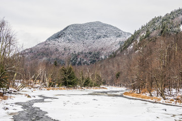 Adirondack Mountain in witner covered in snow