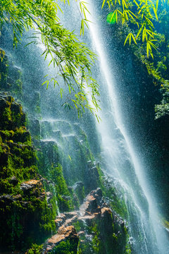 Love waterfall a famous waterfall in Sa Pa district , Lao Cai province, Vietnam