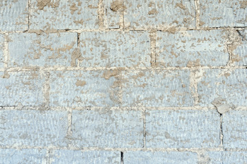Background of old vintage brick wall texture.