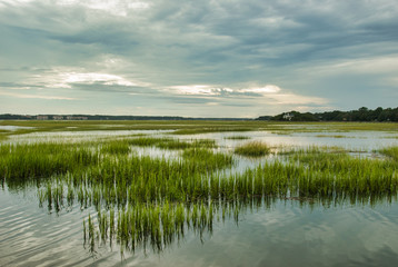 Foto op Textielframe Kust Wetlands, Hilton Head Island, South Carolina