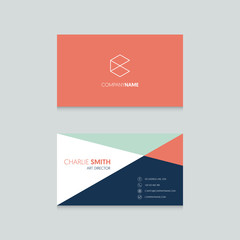 Professional modern business card template design minimal style