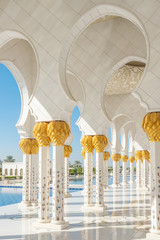 Autocollant pour porte Abou Dabi Sheikh Zayed Grand Mosque in Abu Dhabi, UAE