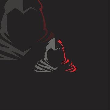 Ninja esport gaming mascot logo vector