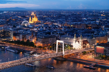 Wall Mural - Budapest cityscape at twilight in summer