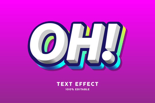 Dark blue and colorful gradient text effect, editable text