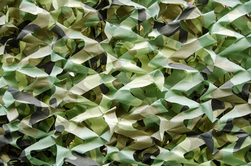 Camouflage fabric screen