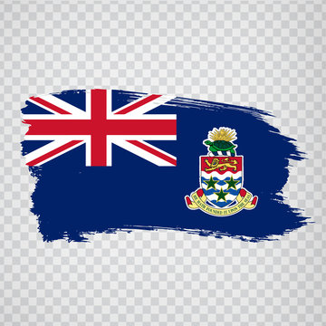Flag Cayman islands  from brush strokes. Flag Cayman islands on transparent background for your web site design, logo, app, UI. UK. Stock vector.  EPS10.