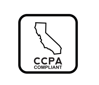 California Consumer Privacy Act icon vector isolated