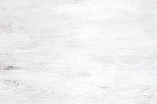 Old white wooden texture of rustic table.