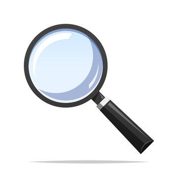Magnifying glass vector isolated illustration
