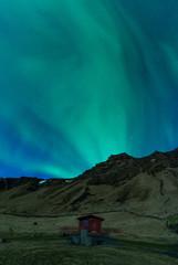Fototapete - Aurora Borealis (Northern Lights) in Iceland beach