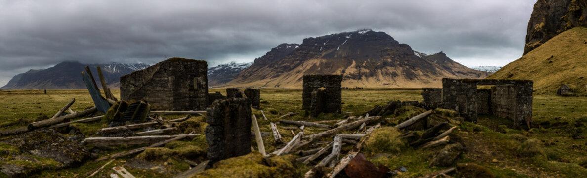 Viking village farm in Scandinavia