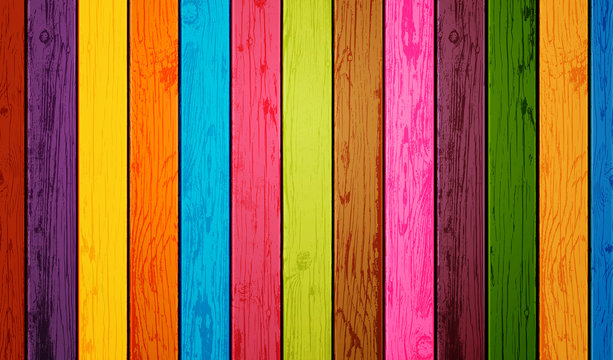 Colored wood planks background. Vector illustration