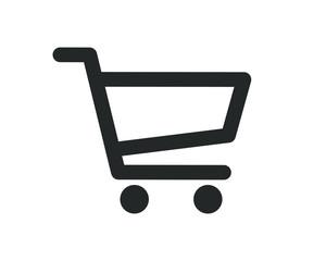 Web store shopping cart icon shape button. Internet shop buy logo symbol sign. Vector illustration image. Isolated on white background. - fototapety na wymiar